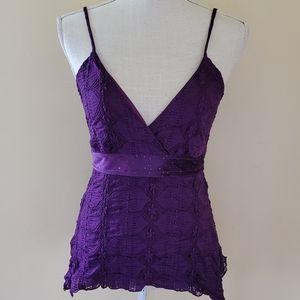 MKM  designs y2k purple lace tank size medium
